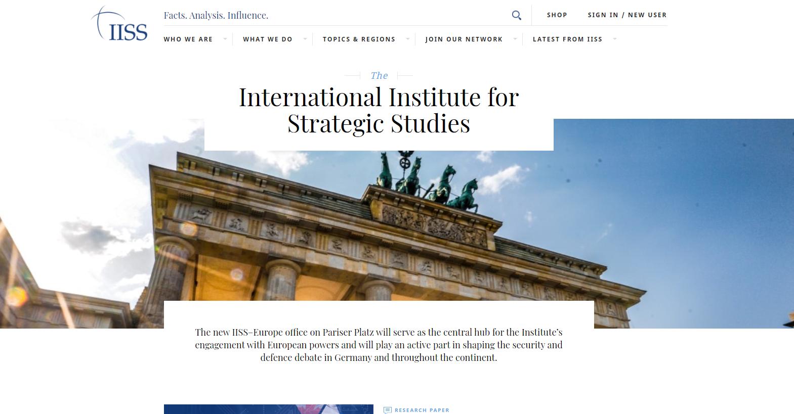 The International Institute for Strategic Studies